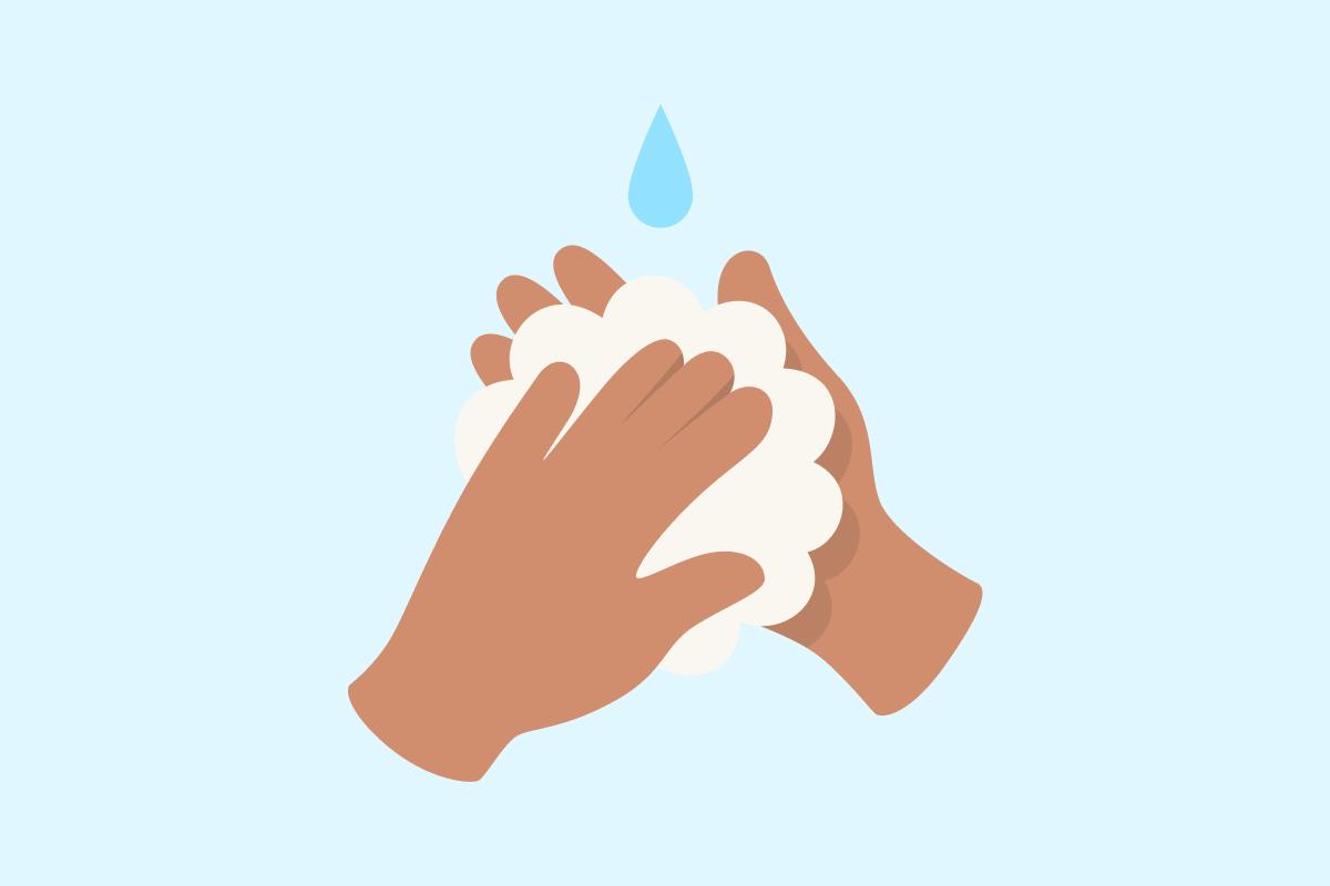 Hygiene: Hände und Kontaktflächen waschen und desinfizieren
